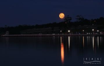 full moon at eastern beach
